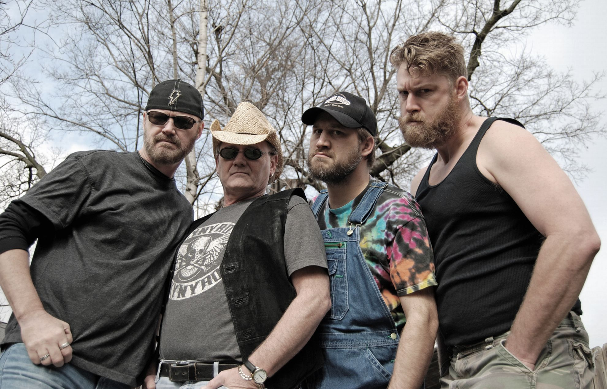 Hayseed Dixie: Det amerikanske bandet ga ut albumet «Free Your Mind and Your Grass Will Follow» i april i år. Foto: pressefoto.